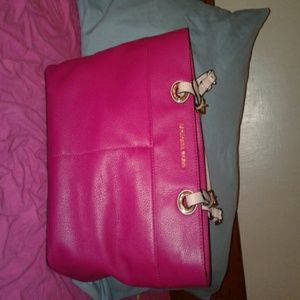 michael kors pink tote purse